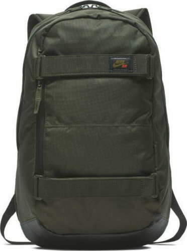 Nike SB Courthouse Skateboard Backpack Sequoia Black Olive Glow BA5305-357