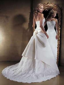 Détails sur Magnifique robe de mariée/mariage ★290★