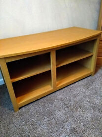 TV unit with middle shelf, room for 4 items. lamp table. Both in good condition.