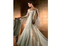 Demetrios Designer Ivory Organza Wedding Dress