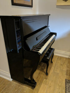 Excellent Condition - Kraus Upright Glossy Black Piano