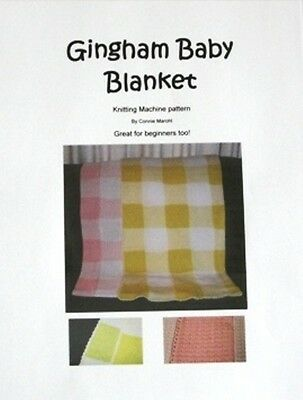 Gingham Blanket - knitting machine pattern!