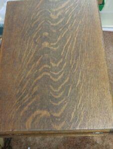 Antique treadle sewing machine oak cabinet T EATON London Ontario image 6