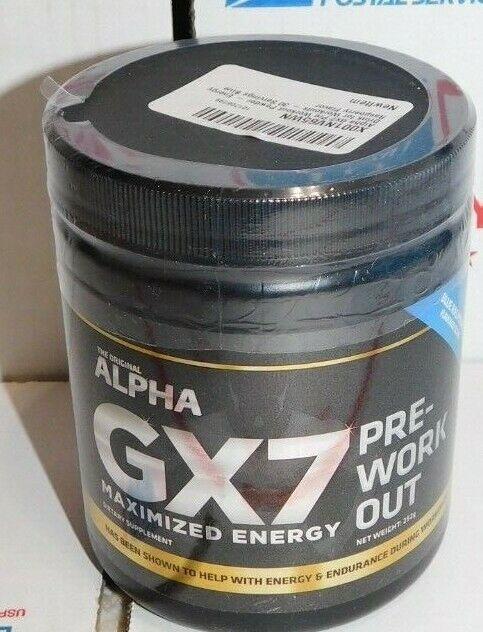 Alpha GX7 Pre-Workout Powder Maximized Energy Blue Raspberry
