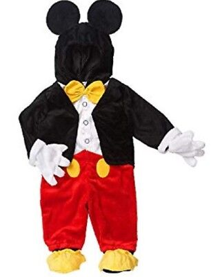 Disney MICKEY MOUSE Halloween Costume Baby 6-9 Months Super Soft EUC
