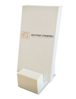 Vertical Business Card Holder - White Engineered Quartz - Recycled Quartz