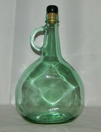 VINTAGE ALMADEN VINEYARDS GREEN GLASS WINE BOTTLE JUG WITH CORK 1.5 LITERS