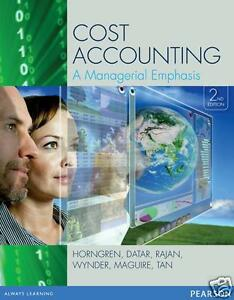 NEW 3 DAYS to AUS / NZ - Cost Accounting by Horngren (2 Edition) - 9781442563377
