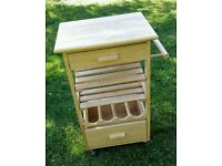 Mobile wooden Kitchen trolley wine rack with drawers