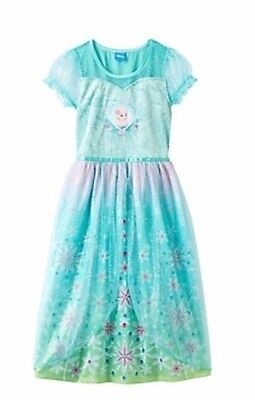 Disney's Frozen Fever Elsa Dress-Up Pajama PJ Nightgown Girls Size 8 ](Dress Up Pajamas)
