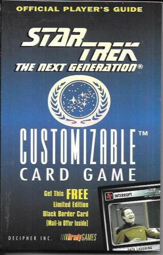 STAR TREK THE NEXT GENERATION CUSTOMIZABLE CARD GAME OFFICIAL PLAYER
