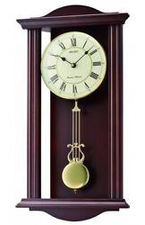 Seiko Wooden Chiming Wall Clock with Pendulum QXH072B NEW