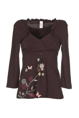 New HOTMilk Plum Maternity Pyjama Top 10 - 12 Small Drop Cup Indulge In A Moment