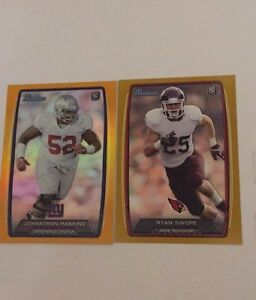 2 2013 Bowman Football Rookie Cards-Gold 118/399 Orange 039/299