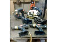 Ryobi 18v tools no battery's