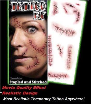 Tinsley FX Transfers Stapled Stitched Realistic Tattoo Makeup Kit reg $16 - Stitches Tattoo