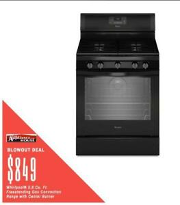 Milton Favourite ApplianceHouse has the best deals on Whirlpool Gas Ranges