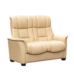 Windsor cream leather 2 seater sofa