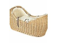 Mothercare The Snug Moses Basket & gliding stand (sells new for £155)