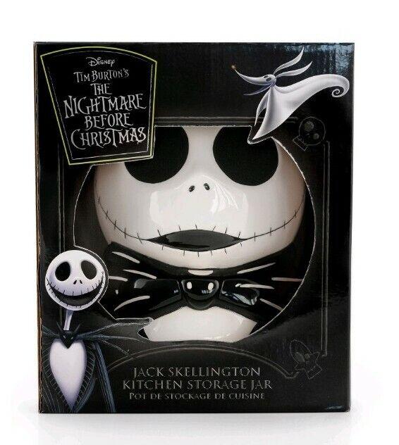 Nightmare Before Christmas Ceramic Jack Skellington Cookie Jar Claymation