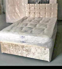 ♥️Beautiful crush velvet beds!!FREE DELIVERY