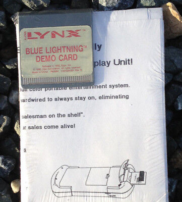 Blue Lightning Dealer Demo Lynx Atari Collectors! New!