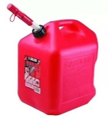 5 Gallon Gas Can Wspill Proof Spout Red Polyplastic Gas Can Free Shipping