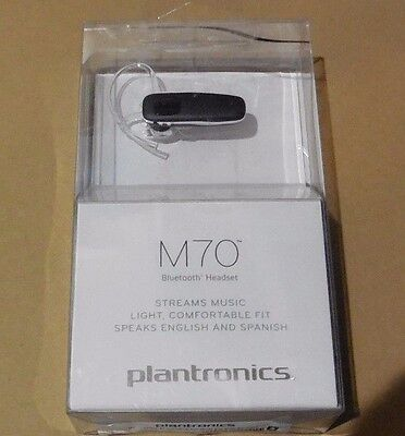 Plantronics M70 Wireless Bluetooth Headset With Music Streaming  Open Box