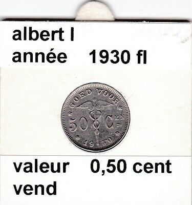 BF 3 )pieces de albert I de 50 cent 1930 belgie