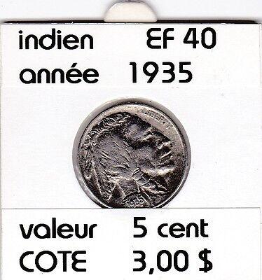 e 1 ) pieces de 5 cent 1935  indien