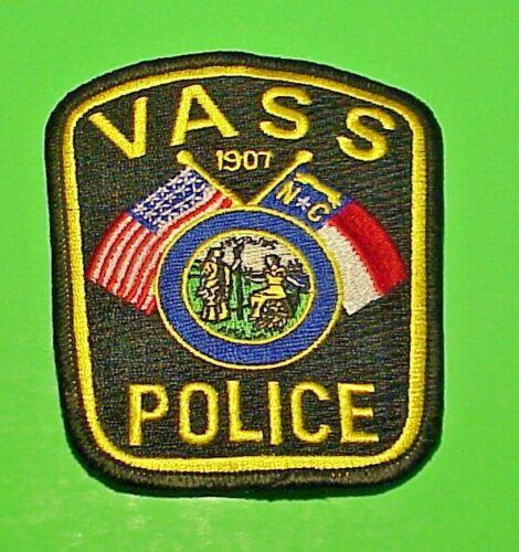 "VASS  NORTH CAROLINA  1907  NC  POLICE PATCH  4""  FREE SHIPPING!!!"
