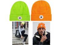 Converse beanie winter ski hat BNWT genuine womens adults orange green [Free UK delivery]