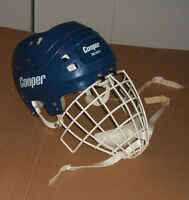 Casque De Hockey Cooper SK600 Bleu Cage Senior Large Helmet