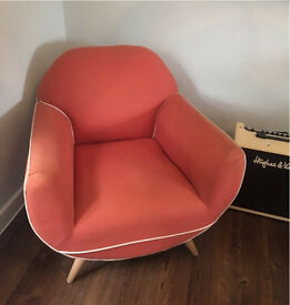 Juno Armchair by Made - Burnt Orange Sofa Chair RRP £449