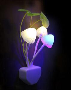 Mushroom With Lotus Leaf Design Multi-color LED Night Light Lamp Lantern KIDS