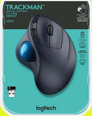 Logitech M570 Laser Wireless Trackball USB Mouse FREE SHIPPING