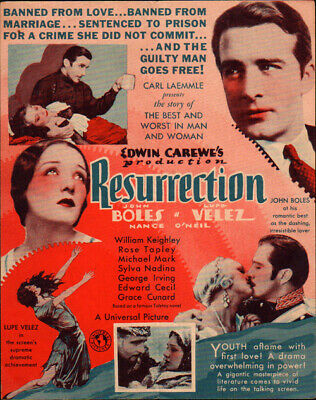 Resurrection Movie Herald From The 1931 Movie  - $34.99