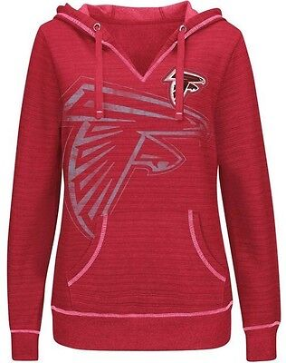 Atlanta Falcons NFL Majestic Womens Cross Block Pullover Hoodie Red Plus -