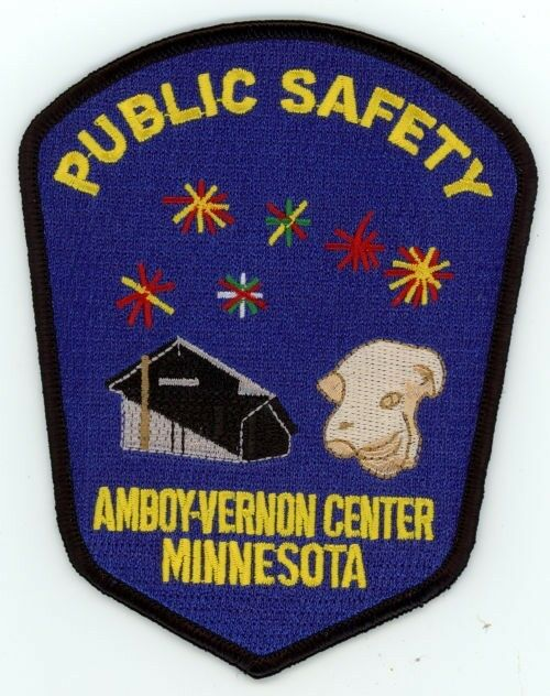 AMBOY VERNON CENTER PUBLIC SAFETY MINNESOTA MN PATCH POLICE SHERIFF