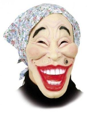 Orl - Maske alte Frau mit Kopftuch zum Kostüm Halloween Karneval Fasching