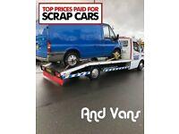 Scrap cars wanted vans 4x4s