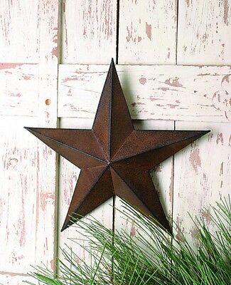 Barn Star New Primitive Americana Texas Brown Metal Barn Star 12