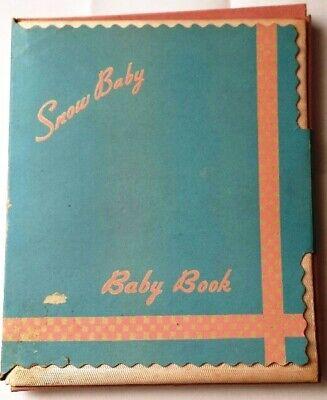 VINTAGE SNOW BABY BABY BOOK ~ BABY KEEPSAKE RECORD JOURNAL