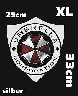 Resident Evil Umbrella Corporation Sticker Auto Aufkleber Car silber weiß XL 33c