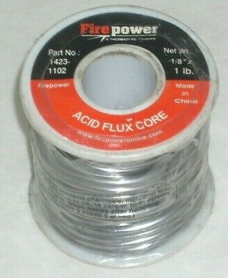 Victor Firepower 1423-1102 Acid Flux Core Solder 18 Diameter 1 Lb