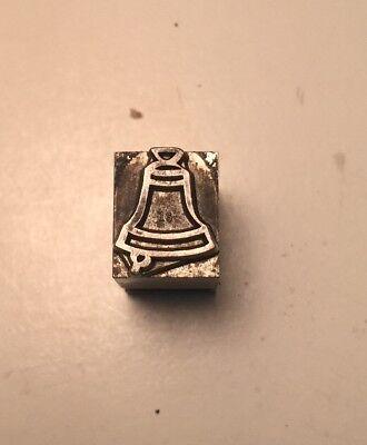 Vintage Printer Wood Metal Print Block Letterpress Type Of A Bell