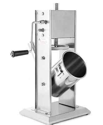 7l Vertical Sausage Filler Stainless Sausage Stuffer Steel Commercial 4x Tubes