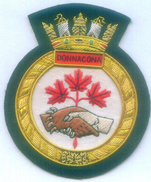 Canada HMCS Donnacona Royal Navy HMS Fleet Battle Train Reserve War Ship Patch X