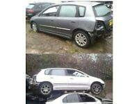2002 HONDA CIVIC 5 DOOR HATCHBACK SILVER BREAKING FOR PARTS