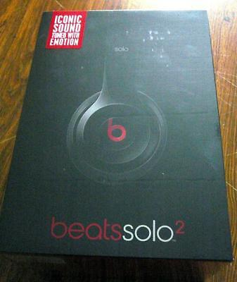 NEW Beats by Dr. Dre Solo2 On-Ear Wired Gloss Black Headphones FreePriorityMail
